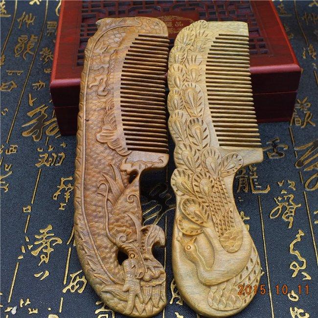 古代梳子手绘稿